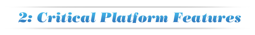 Chapter 2: Critical Platform Features